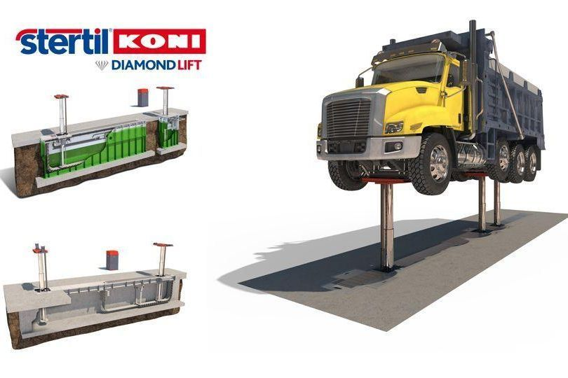 stertil-koni in-grouns piston lfts the DIAMONDLIFT