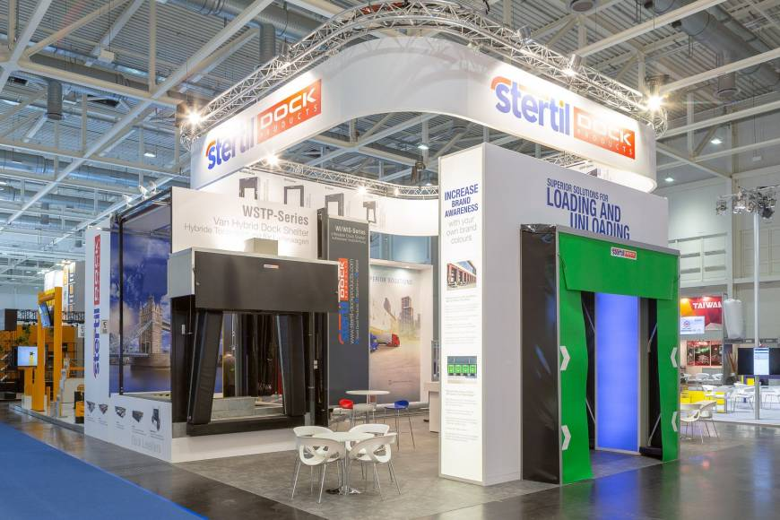 stertil dock products coloured curtains dock shelters