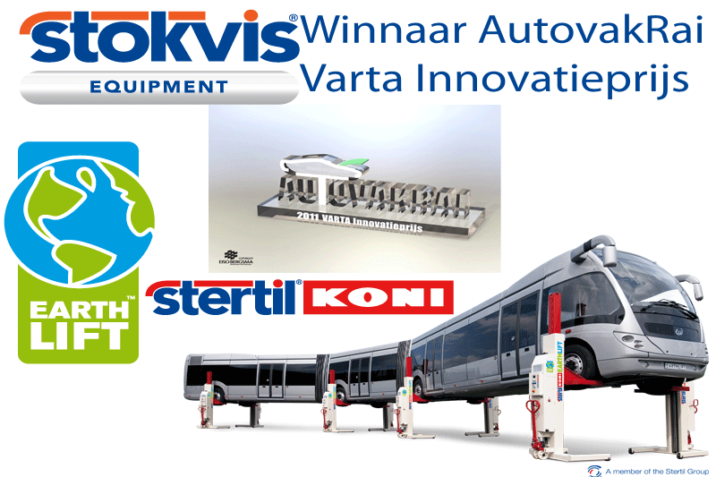 Stertil wins innovation award Autovak Rai 2011 with Stertil-Koni EARTHLIFT
